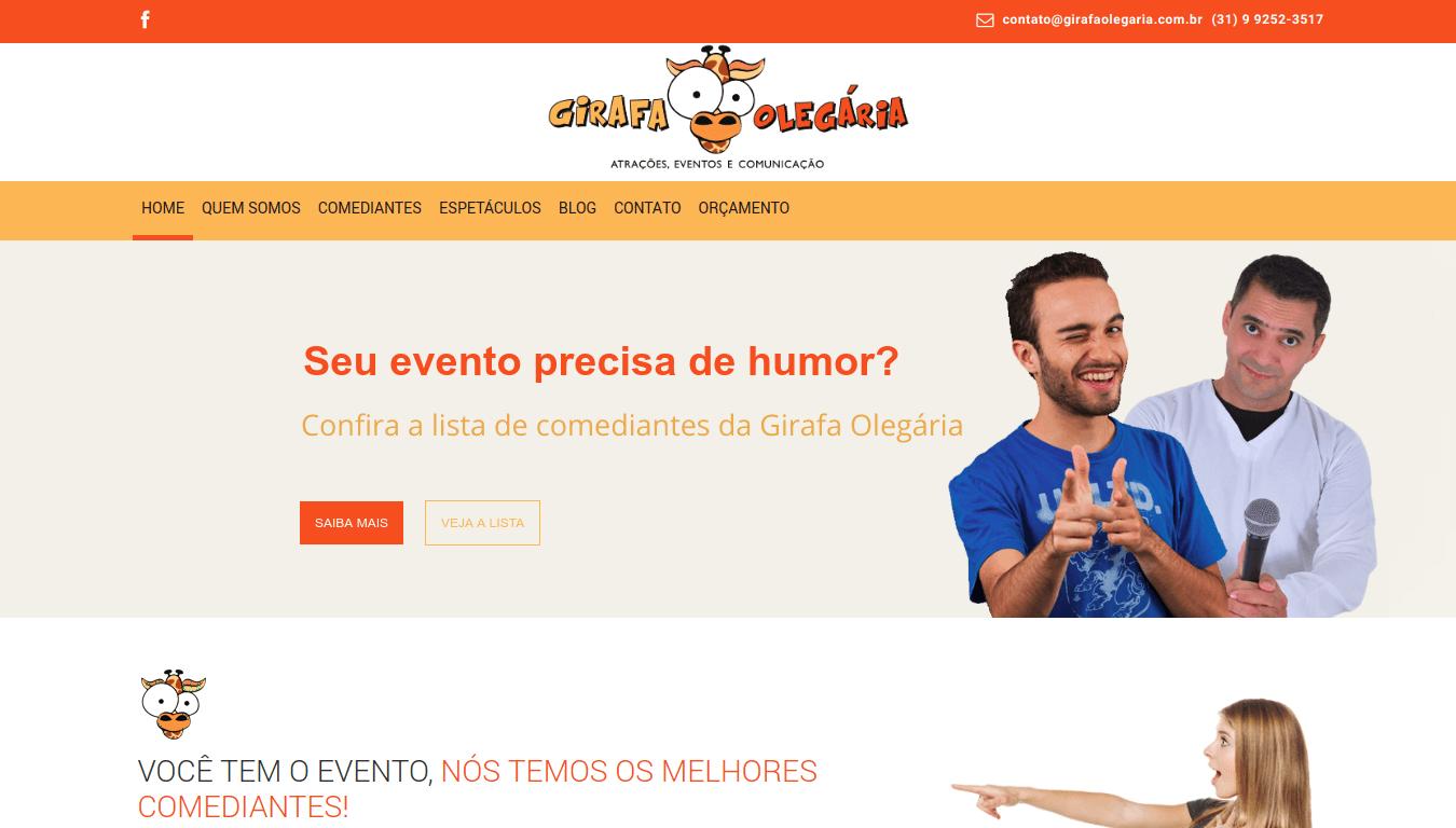 Manutenção Site WordPress Girafa Olegária