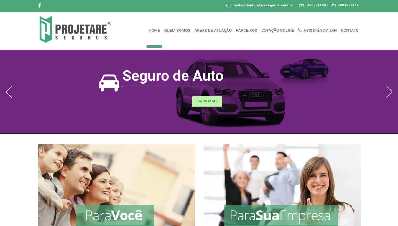 Manutenção Site WordPress Projetare Seguros