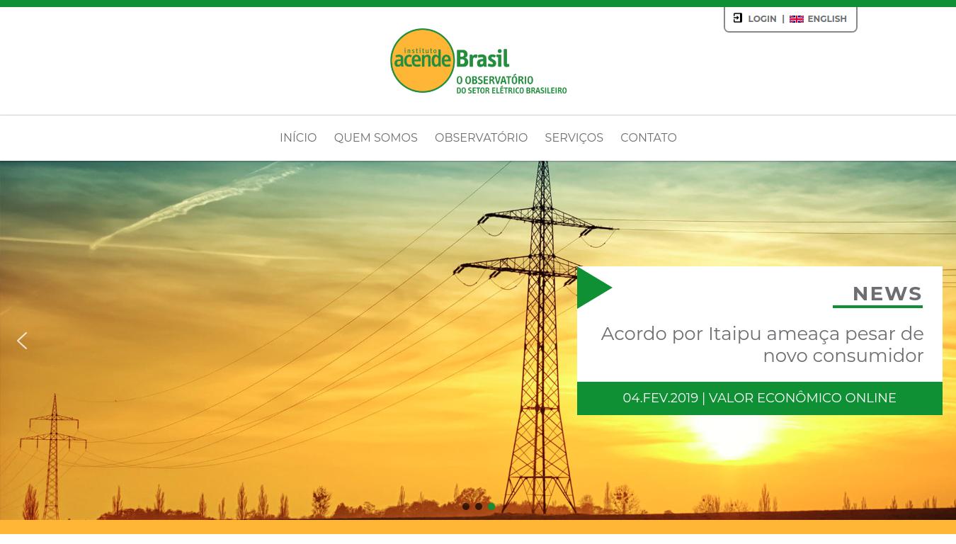 Criação de site Acende Brasil