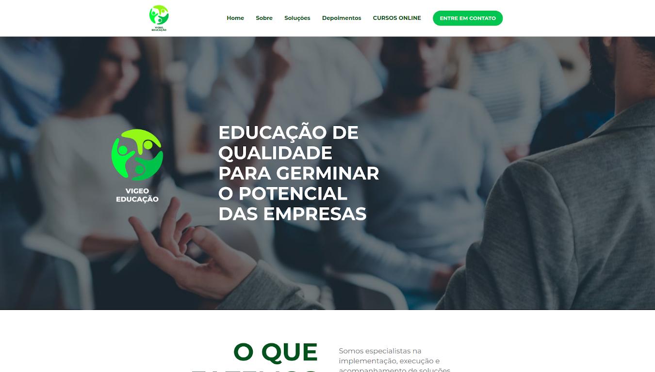 Criação de site WordPress BH Vigeo Educação